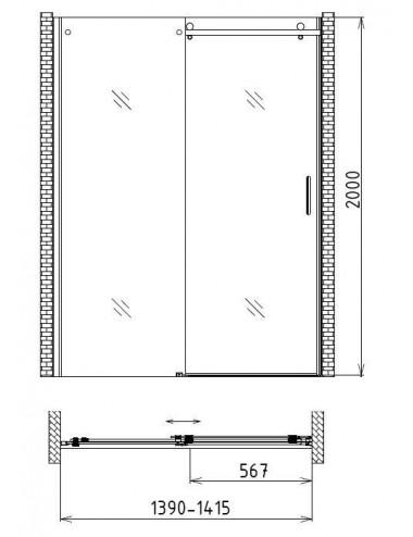 VAGNERPLAST фронтальный экран 170/180 см для ванны, с крепежем