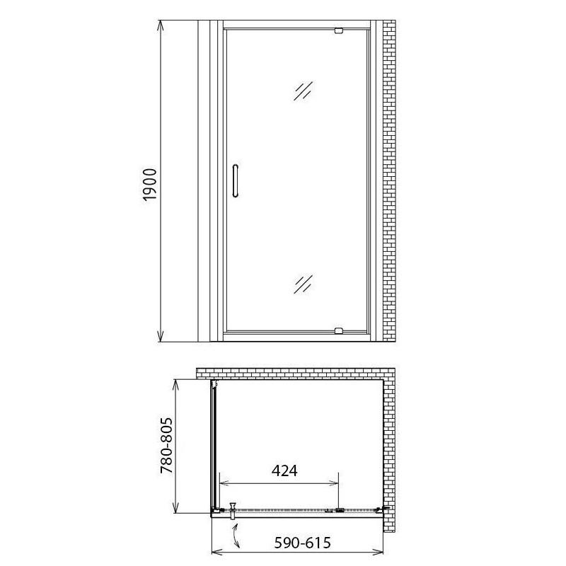 VAYER BOOMERANG 140 x 140 экран для ванны, с крепежем