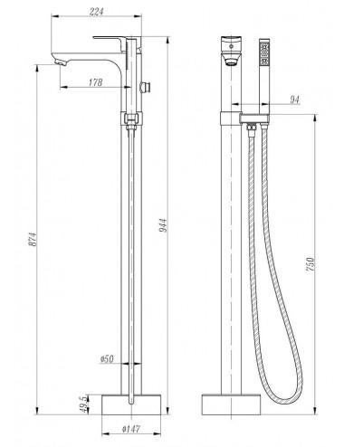 ALPEN NOEMI 170x70 акриловая ванна
