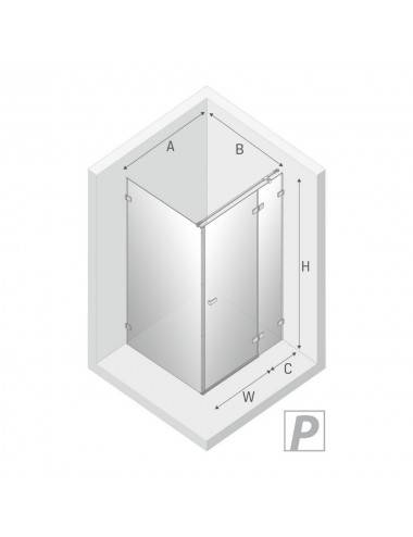 OMNIRES CAMDEN душевой поддон акриловый 90x90 cм, белый глянец, арт. CAMDEN90/OBP