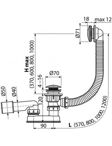ALPEN VENERA 170x75 акриловая ванна