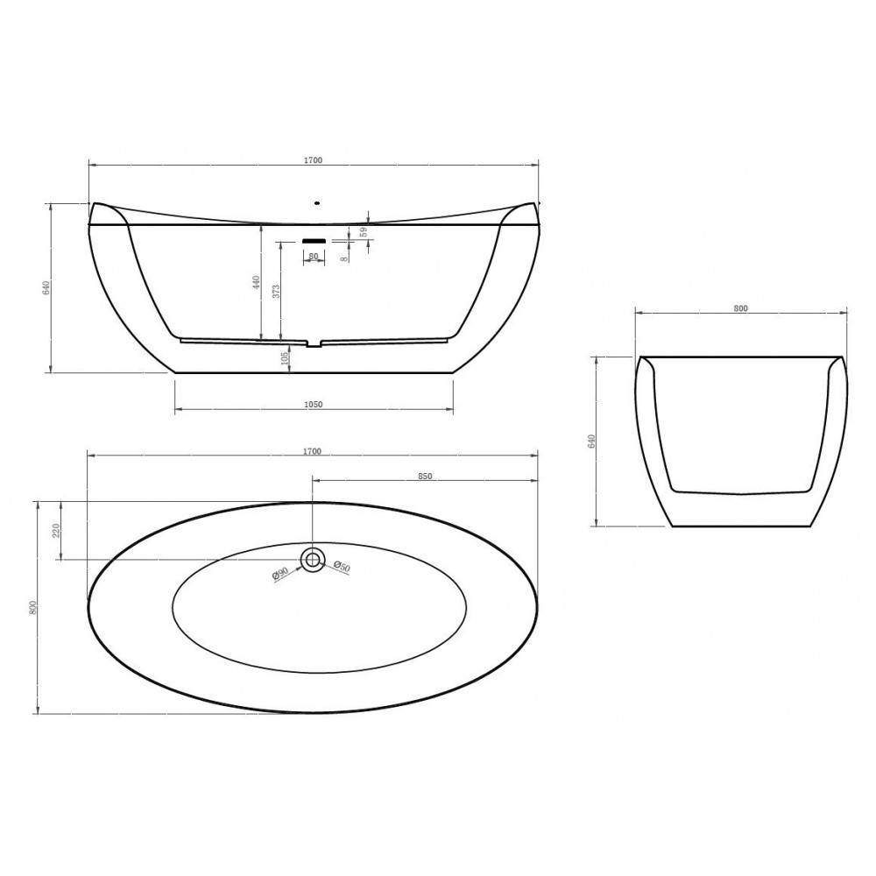 ALPEN DALLAS экран для ванны