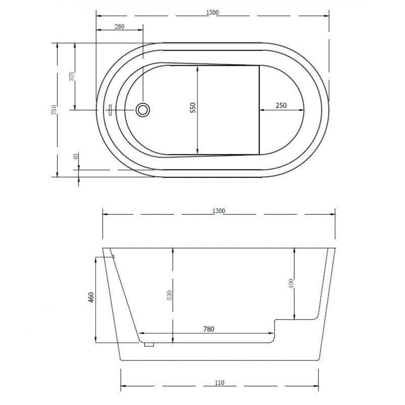 Душевой лоток Alcaplast Flexible APZ1004-650