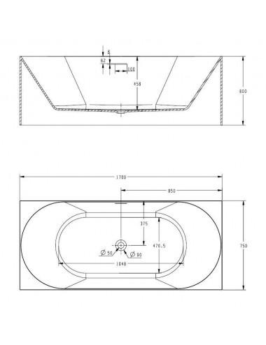 ALPEN MONTANA 170 х 70 х 41 (180л) акриловая ванна