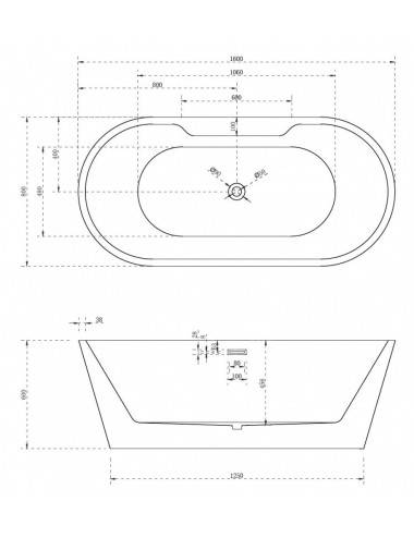 ALPEN LUNA 170 x 75 акриловая ванна