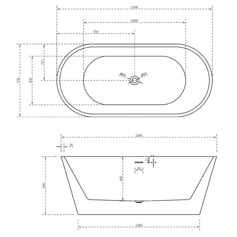 ALPEN MARS 120 x 70 акриловая ванна