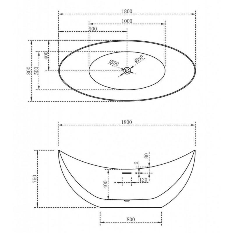 Душевой лоток Alcaplast Simple APZ10-950M