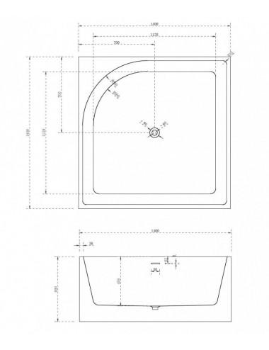 Душевой лоток Alcaplast Simple APZ8-550M