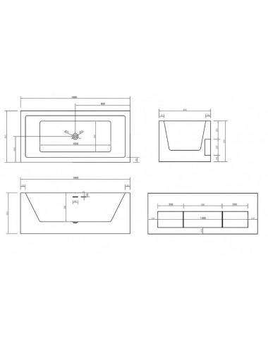 Душевой лоток Alcaplast Simple APZ9 850M