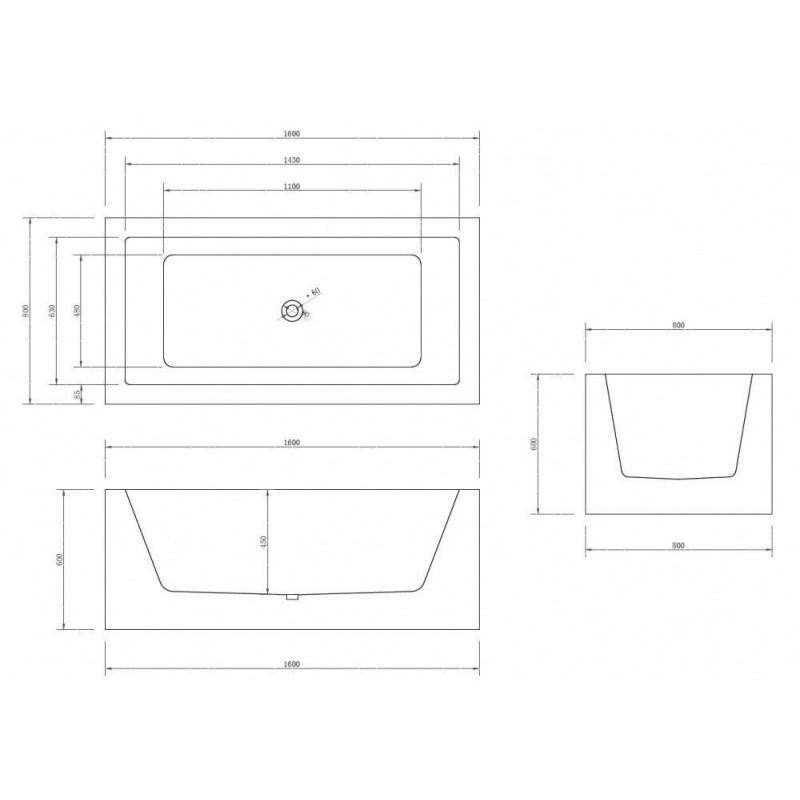 Душевой лоток Alcaplast Spa APZ5-SHADE-650