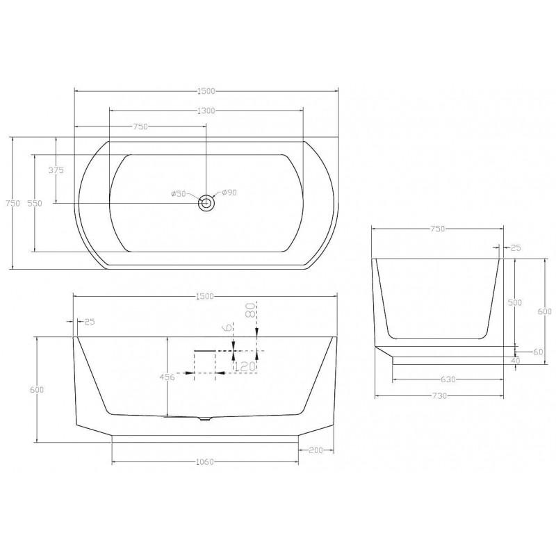 Душевой лоток Alcaplast Spa APZ5-SHADE-950