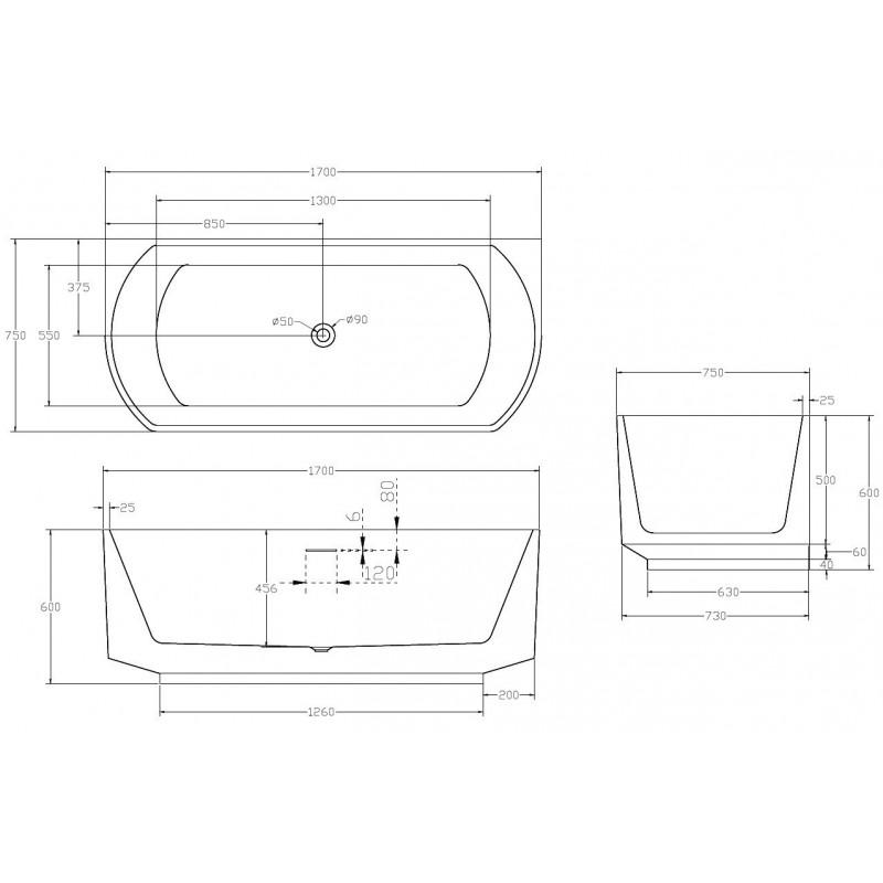 Душевой лоток Alcaplast Spa APZ5-TWIN-850