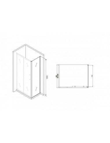 Душевой лоток Alcaplast Wall Low APZ116-650