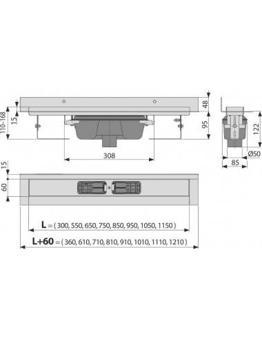 RIHO LIMA 170 x 75 х 45 (210л) акриловая ванна