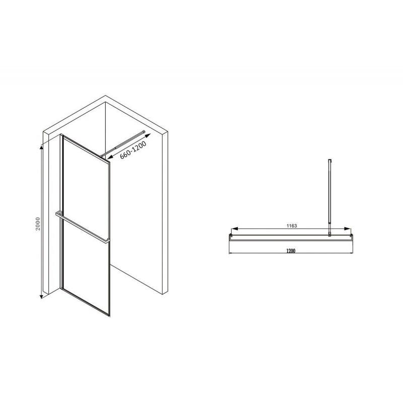 Решетка Alcaplast CODE-850M матовая