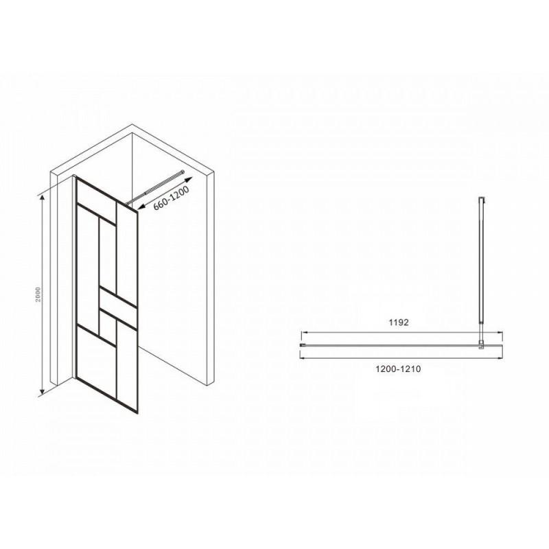 Решетка Alcaplast CUBE-850L глянцевая