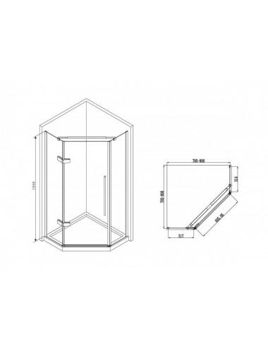 Решетка Alcaplast DESIGN-ANTIC-1150 бронза