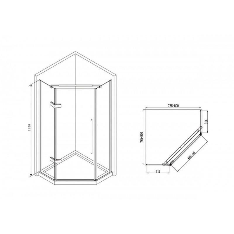 Решетка Alcaplast DESIGN-300LN глянцевая