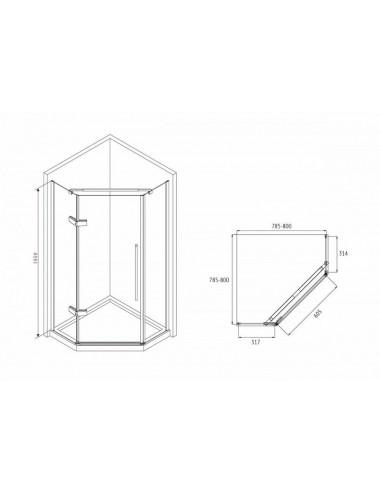 Решетка Alcaplast DESIGN-750LN глянцевая