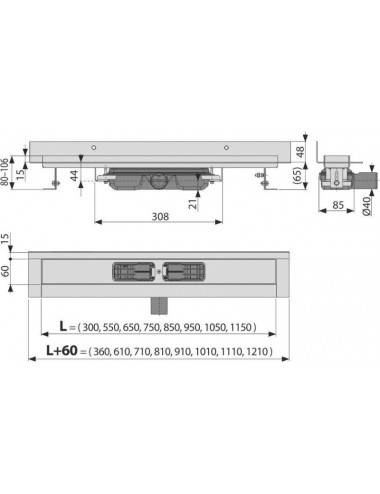 Решетка Alcaplast DREAM-950L глянцевая