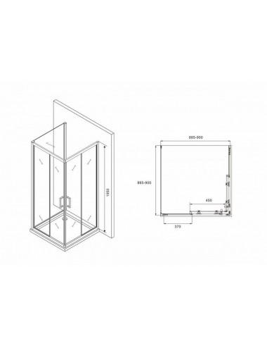 Решетка Alcaplast GL1200-750 белое стекло