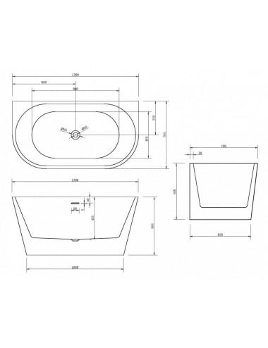 ABBER AB9220 акриловая ванна 170x70