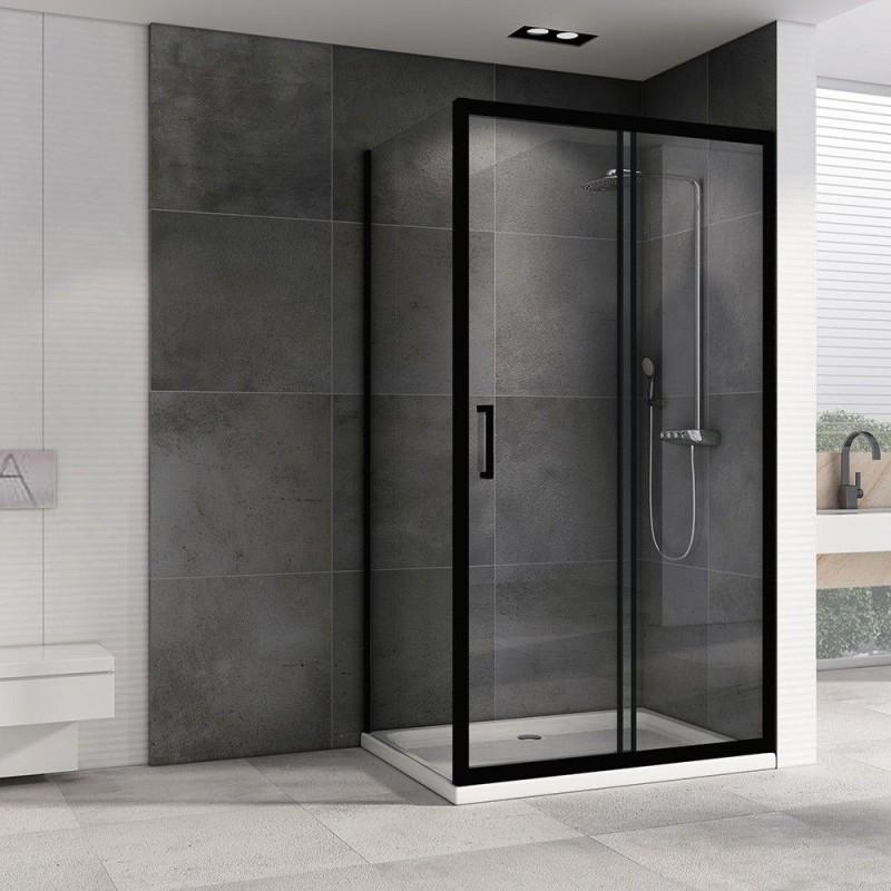 Решетка Alcaplast GL1204-850 черное стекло