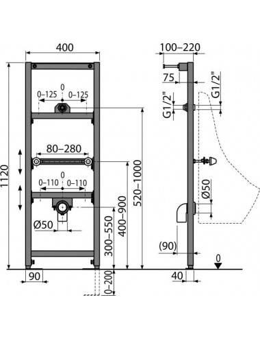 RELISAN ZOYA 150x95-L акриловая ванна