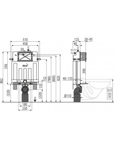 ALPEN TERRA 140 x 95 х 42 (185л) R акриловая ванна